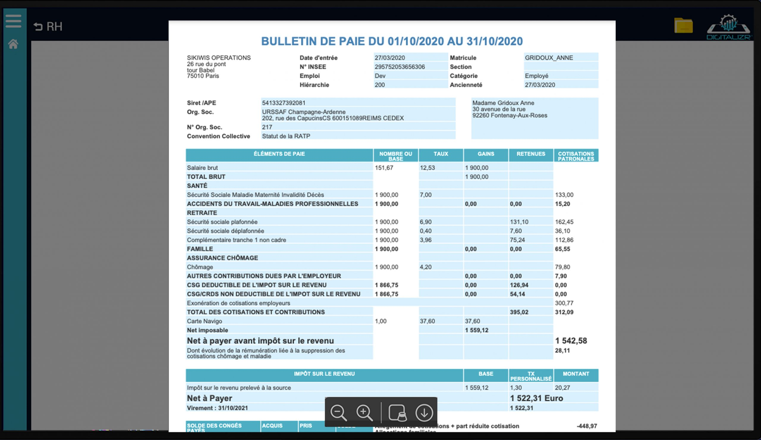Payroll exemple